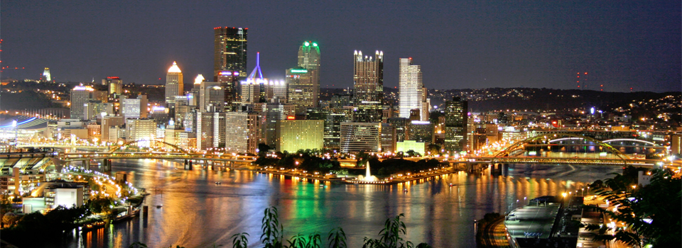 A Night View of Downtown Pittsburgh