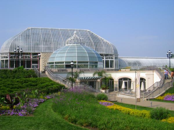 The main entrance to Phipps Conservatory