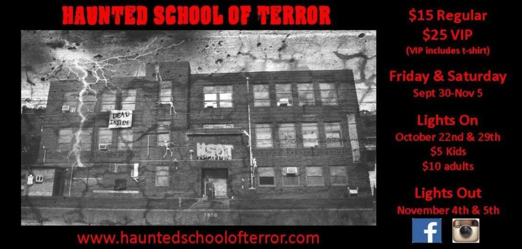 Haunted School of Terror, Weirton, WV
