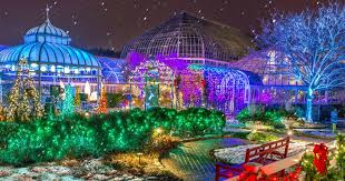 colorful lighting effects illuminate phipps conservatory each christmas season - Overly Country Christmas