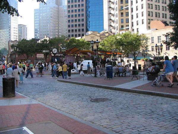 Market Square is a hub of activity in Downtown Pittsburgh.