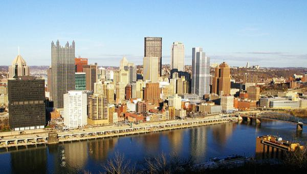 Downtown Pittsburgh as viewed from Mt. Washington