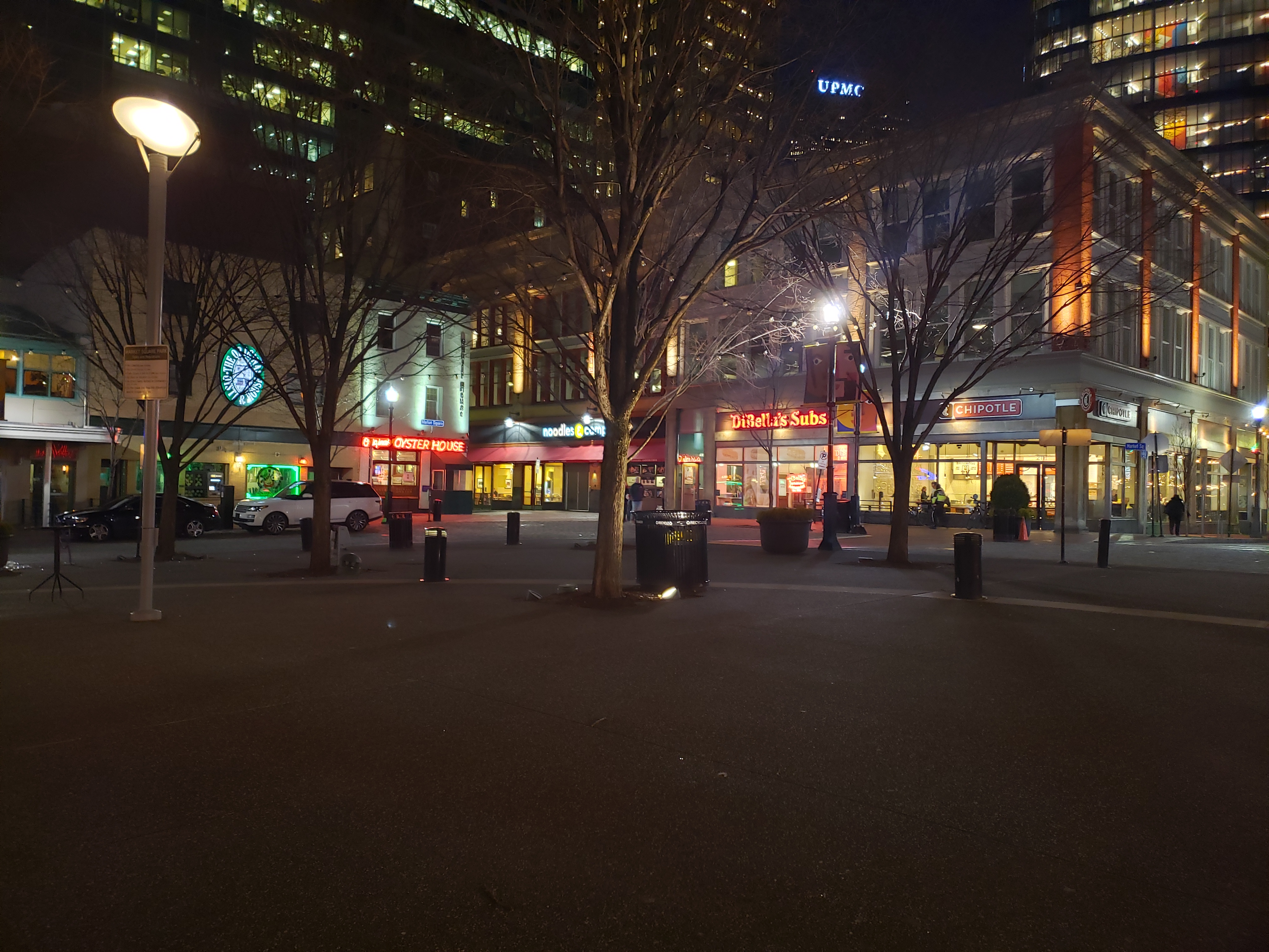 Evening in Market Square, Pittsburgh